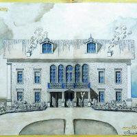3. Το αρχιτεκτονικό σχέδιο της πρόσοψης από τον αρχιτέκτονα Ιωάννη Σταυρίδη. / The architectural design of the house's façade by the architect Ioannis Stavridis.