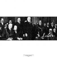 27. H βρετανική ηγεσία τιμά τον Ελευθέριο Βενιζέλο. Δημαρχείο Λονδίνου, 16 Νοεμβρίου 1917. / The British leadership paying homage to Eleftherios Venizelos. The London Town Hall, November 16, 1917.