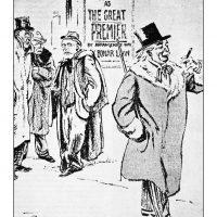 37. O Ουίλσον, ο Κλεμανσώ και ο Βενιζέλος έχουν παύσει πια να πρωταγωνιστούν στην παγκόσμια πολιτική σκηνή, σε αντίθεση με τον Λόυντ Τζωρτζ που παραμένει Πρωθυπουργός της Μεγάλης Βρετανίας. Στη γελοιογραφία ο Βενιζέλος και ο Ουίλσον σχολιάζουν το γεγονός. (Περ. The London Opinion, 27 Νοεμβρίου 1920). / W. Wilson, G. Clemenceau and El. Venizelos have ceased to play a leading role in world affairs. On the contrary, Lloyd George remains the Prime Minister of Great Britain. In a cartoon Venizelos and Wilson comment on that fact. (Magazine The London Opinion, November 27, 1920).