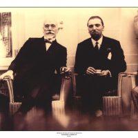 48. Ο Ελευθέριος Βενιζέλος με τον Ιταλό Υπουργό Εξωτερικών Γκράντι, Αθήνα 1928. / Eleftherios Venizelos with the Foreign Secretary of Italy, Grandi, Athens 1928.