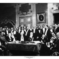 17. H υπογραφή της Συνθήκης του Βουκουρεστίου, 1913. / The signing of the Treaty of Bucharest, 1913.