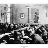 29. Μετά τη λήξη του Α' Παγκοσμίου Πολέμου, συνεδρίαση για τους όρους της ανακωχής. Βερσαλλίες, 16 Νοεμβρίου 1918. / After the end of World War I, discuss about the armistice terms. Versailles, November 16, 1918.