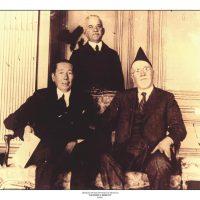 55. Ο Ελευθέριος Βενιζέλος με τον Υπουργό Εξωτερικών της Ρουμανίας κατά τη διάρκεια της τελευταίας τετραετίας διακυβέρνησής του. / Eleftherios Venizelos with the Foreign Secretary of Rumania during the period 1928-1932.
