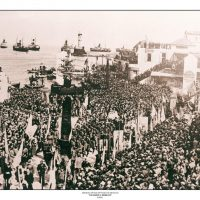 71. H κηδεία του Ελευθερίου Βενιζέλου, Χανιά, Μάρτιος 1936. / The funeral of Eleftherios Venizelos. Hania, March 1936.